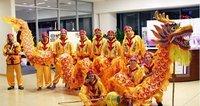 Yellow Chinese DRAGON DANCE ORIGINAL Dragon Chinese Folk Festival Celebration Spring Festival