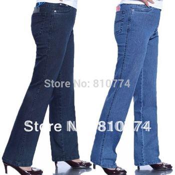 2015 Quinquagenarian pants straight jeans for women plus size plus size women's denim trousers