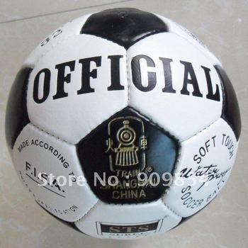 Free shipping Hand stitched PU train soccer ball.KWB32