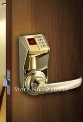Free shipping ADEL golden fingerprint door lock hotel lock DIY-3398(China (Mainland))