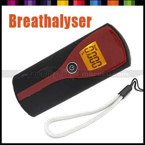 New Digital LCD Display Breath Alcohol Tester Detector Breathalyser Drive Safety with Amber Backlight(Hong Kong)
