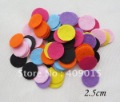 DIY 2.5cm Round Felt Circles Flower Pads Handmade Felt Accessory Patch 1000pcs/pack.C127