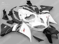 White black Fairings for 2009 2010 2011 YZF R1 YZFR1 09 10 11 YZF-R1 full fairing kit +Free gift