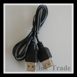 Free shipping New 100PCS/Lot USB 2.0 Line Cord Extension Cable Male to Female Lead AM To AF #8010