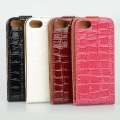 1PCS New Luxury Croco Slim PU Leather Flip Top Case Cover Fit For iPhone 5 5G CM167