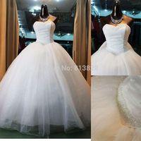 2014 Plus Size Wedding dress Handmade Beaded Wedding Dress 2014 Bridal Gown Vestido De Novia Custom-made