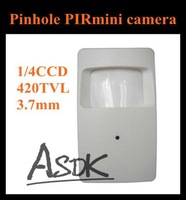 CCTV camera,PIR hidden pinhole 1/4cmos Color  Security  Video Camera