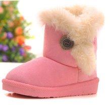 free shipping children wool snow boots bohemia warm shoes boy's wool warm boot velvet winter boots snow shoes kits winter boots(China (Mainland))