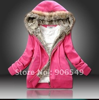 New Women Winter Fur Hoodies Fashion Ladies Padded Jacket Coat Casual Warm Parka