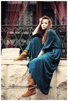 Fashion vintage gold velvet high waist fulldress slim hip skirt bust skirtautumnand winter female Black dark blue green wine red