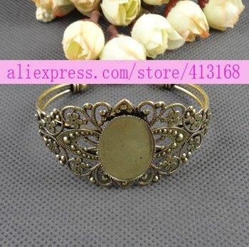 Fit 25*18MM cuff bracelet blank / brass cuff blanks, bangle bracelet base lot, bracelet blanks for jewelry making free shipping