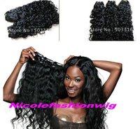 #1 Deep Curl  Brazilian virgin hair weft  100g
