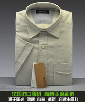 Free shipping Linen short-sleeve shirt casual