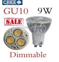 GU10 CREE Dimmable  9W LED Spot Light Bulb Spotlight spot lamp 110v 220v  MR16/GU10/E27/GU5.3