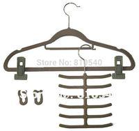 Multifunctional mixture items of  6 set  Fashionable  ABS plastic velvet flocked non-slip hanger & accessories of hanger