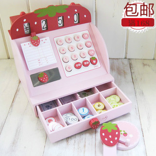 2013-Christmas-Halloween-Mother-garden-strawberry-cash-desk-wooden-toy
