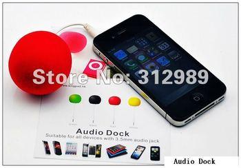 5 color Audio Dock Speaker Amplifier for All 3.5mm Music Plug Mobile Phone!