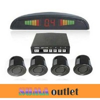 12v Car LED Display Indicator Parking 4 Sensors Reverse Radar Kit
