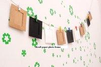 Free Shipping Creative Lanyard hanging Kraft paper photo frame combination wholesale