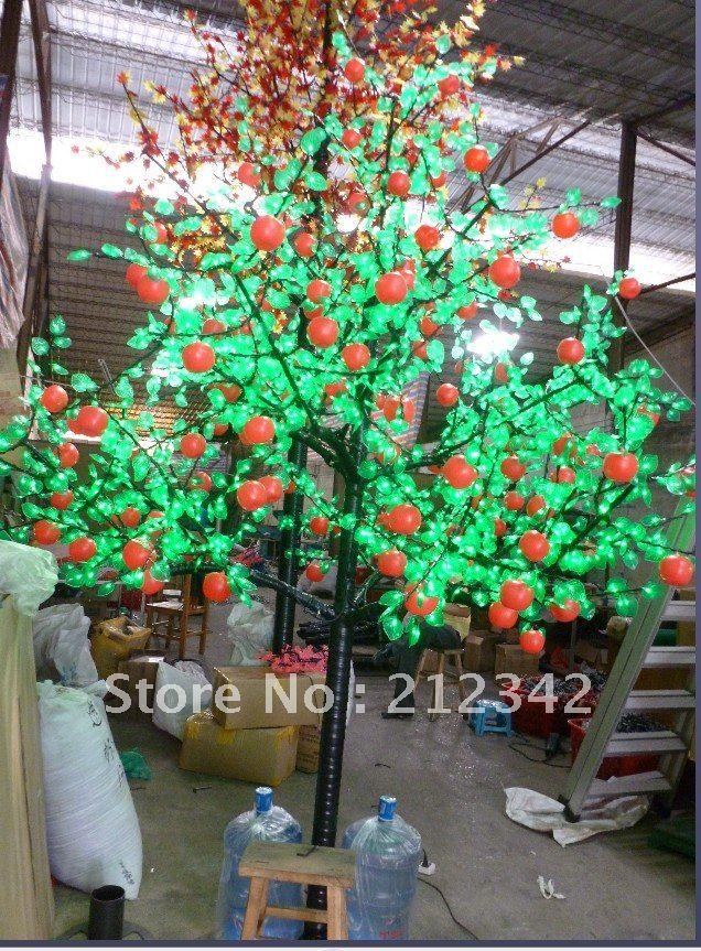 2.5m Height, 1500pcs LED Bulbs, 220VAC, LED Apple Tree Light!(China (Mainland))
