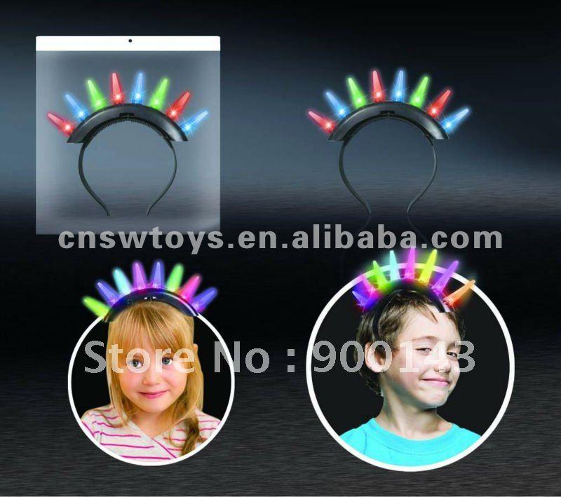 8 Led light Flashing Hairwear. Hot sale party toys! JR4600689(China (Mainland))
