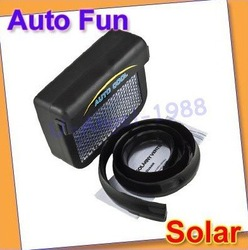 3pcs/lot Solar Sun Powered Car Auto Air Vent Cool Cooler fan NEW +free shipping(China (Mainland))