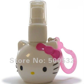 Wholesale 20 pcs/lot hello kitty perfume bottle Mini bottle for women plastic bottles, Free shipping KT-1962