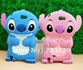 Wholesale Cute 3D Stitch Silicone Back Case cover for SAMSUNG N7100 Galaxy Note2 II pink blue,free shipping 10pcs/lot