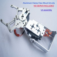 F03992 1 set 2 DOF Aluminium Robot Arm Clamp Claw Mount kit (No servo) Un-assembly + Free shipping