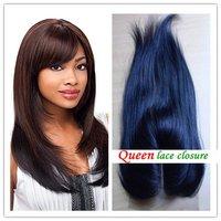 """человеческие волосы 100% перуанский девственной, закрытие кружева королевы, 5 x 5"""", топ закрытия, тела волны, детские волосы, blenched узлов, цвет #1b"""