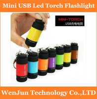 Hot selling Mini USB Led Torch Emergency Light Flashlight Book Light 5pcs Mixed Lot Free Ship