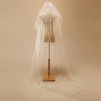 Ts002 bride wedding ultra long paragraph beading veil