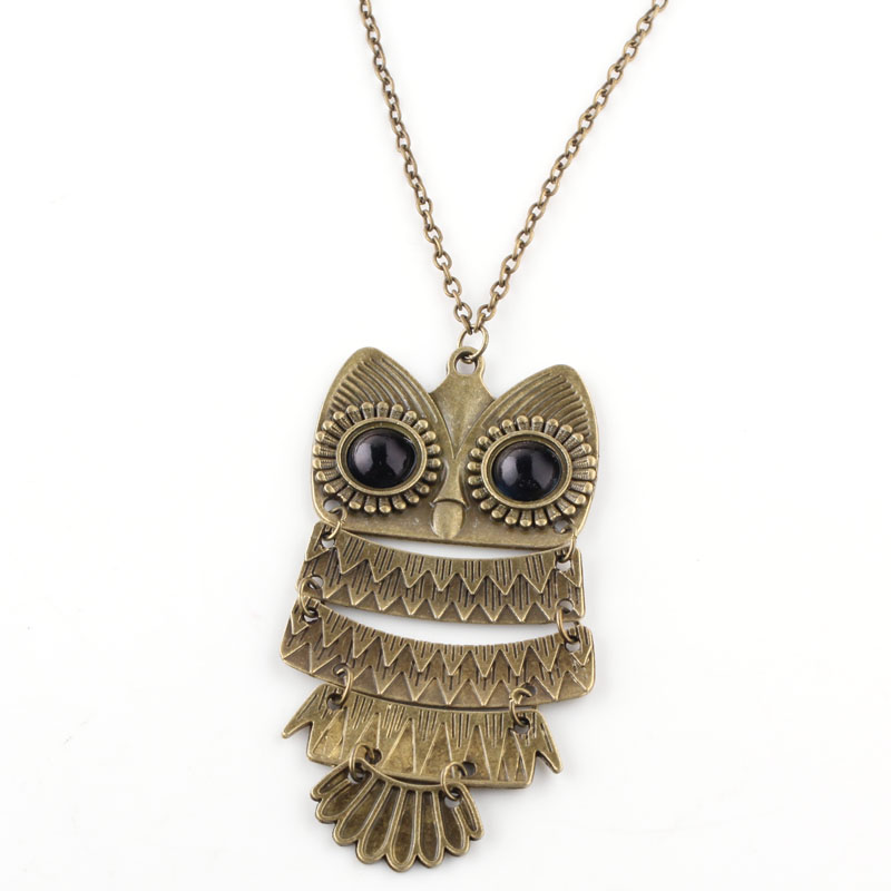 Promotion Products popular vintage owl necklace fashion necklace(China (Mainland))