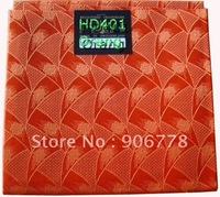 orange color  Hayes swiss net head tie matching with lace fabric