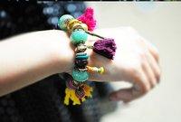 2013 New Arrival Hot Sale Original Stone Beaded Multi Element Hit Color Bracelet B65