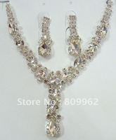 Free Shipping Fashion Imitated Diamond Wedding Jewelry Sets Bridal Necklace Wedding Decoration Rhinestones Jewelry for Woman