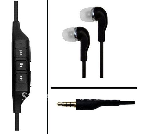 Earphone Headset For Nokia with Mic and Volume Control Clip wholesale 10 pcs/ lot(China (Mainland))