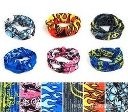 5pcs/lot Multifunction Head Scarf Magic Headband Outdoor Bicycle head scarf(China (Mainland))