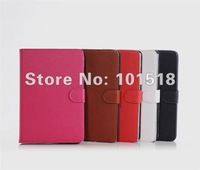 "50pcs/lot&free shipping Lichi Leather Case Cover Skin For Apple Ipad MINI 7""tablet"