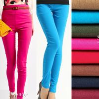 Free Shipping 2013 New Candy Color Elastic Pencil Pants Skinny Elegant Fashion Leggings