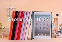 "50pcs/lot&free shipping High quality Shine PU Leather Case  Cover Skin For  Ipad MINI 7""tablet"