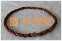 High Quality Health Braided Florida State Titanium Cord Necklaces Wholesale