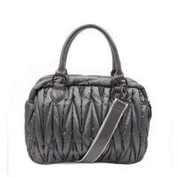 Free Shipping Portable TMC Grey Ruched Down Swiss Handbag Handbag & Messenger Shoulder Swiss Handbag Travel-with YL262