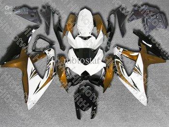 Gold&white fairing kit for GSXR 600 750 2008 2009 K8 GSXR600 GSXR750 08 09 10 GSX-R750 GSX-R600