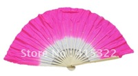 30pcs/lot free shipping silk fabric dancing fans wholesale