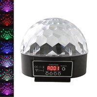 S0006, DMX512 Disco DJ Stage Lighting Digital LED RGB Crystal Magic Ball Effect Light 6 LED, Free Shipping