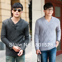 Мужской пуловер Asian size Asian size Winter Thermal Irregular Twisting Male Casual Turtleneck Polo-necked Collar Sweater LMY13 SIZE M-XL Y