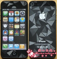 Shining Diamond 3D Full Body Screen Protector For IPHONE5G 5 5th, front+Back , free shipping