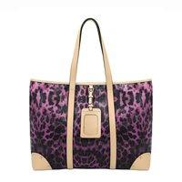 2013 hot selling New Vogue TMC Women's Purple Leopard Tote Bag Fashion Handbag  YL264