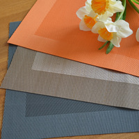 Environmentally friendly PVC plastic placemat/Simple solid color Western shop/Multifunction waterproof insulation pad